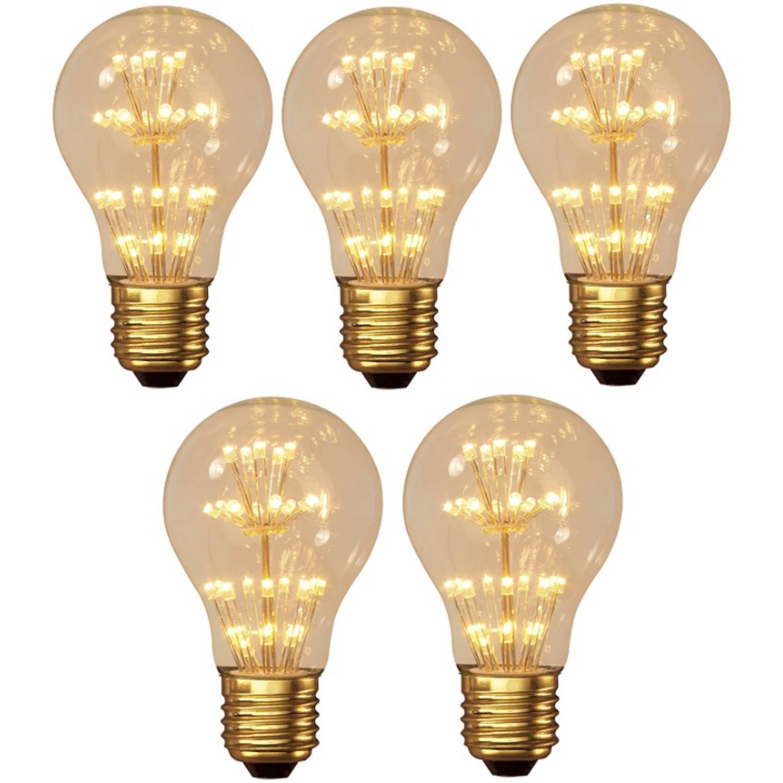 5 stuks - Calex Pearl LED lamp 1.5W E27 30-leds 2100K 136lm