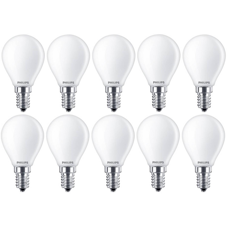 10 stuks - Philips LED Kogellamp E14 2.2-25W 2700K Mat 250lm