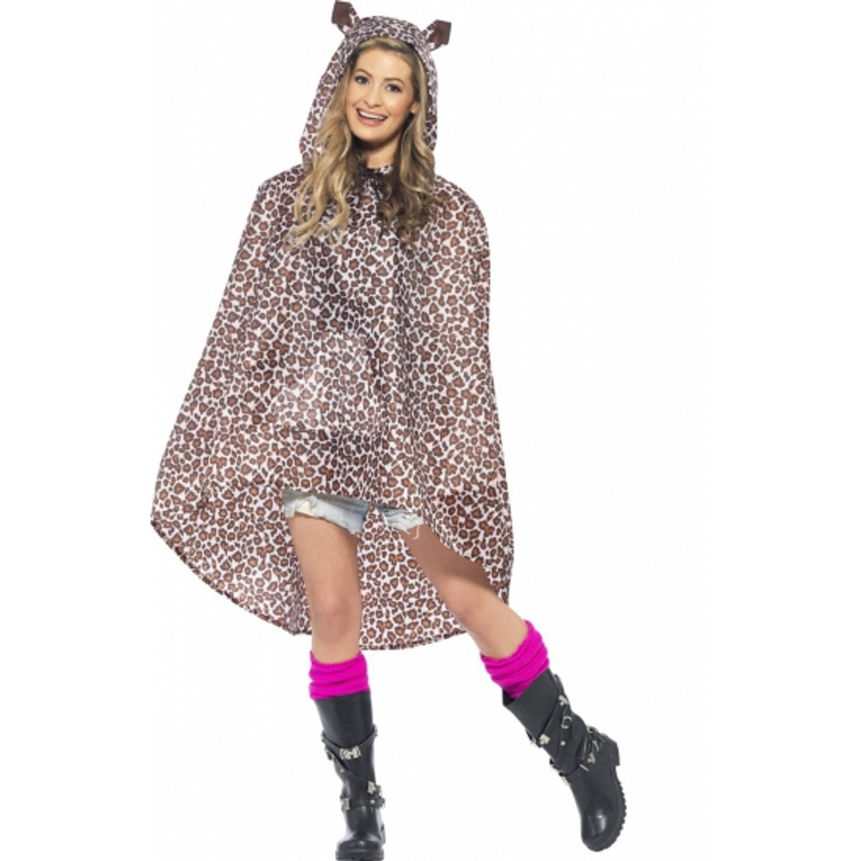 Korting Party regenponcho luipaard