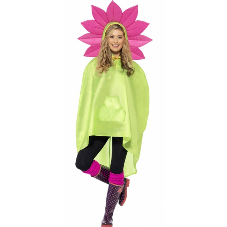 Korting Party regenponcho bloem