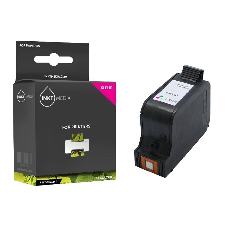 Inktmedia® - Inktcartridge - Alternatief voor de Hp 23 (C1823DE) inktcartridge kleur 1x