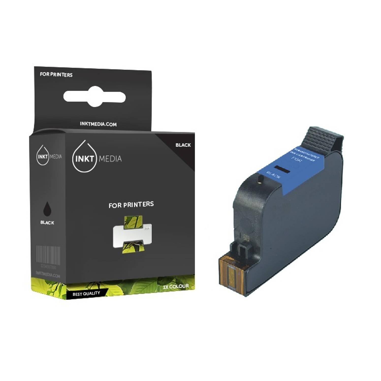 Inktmedia® - Inktcartridge - Alternatief voor de Hp 15 (C6615DE) inktcartridge zwart