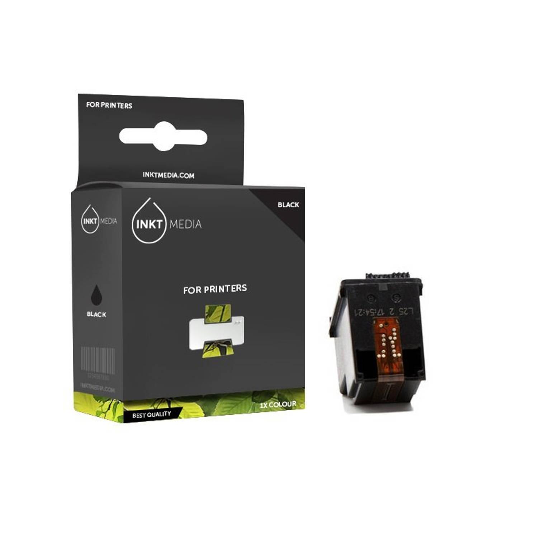 Inktmedia® - Inktcartridge - Alternatief voor de Hp 350XL (CB336EE) inktcartridge zwart hoge capaciteit 1x
