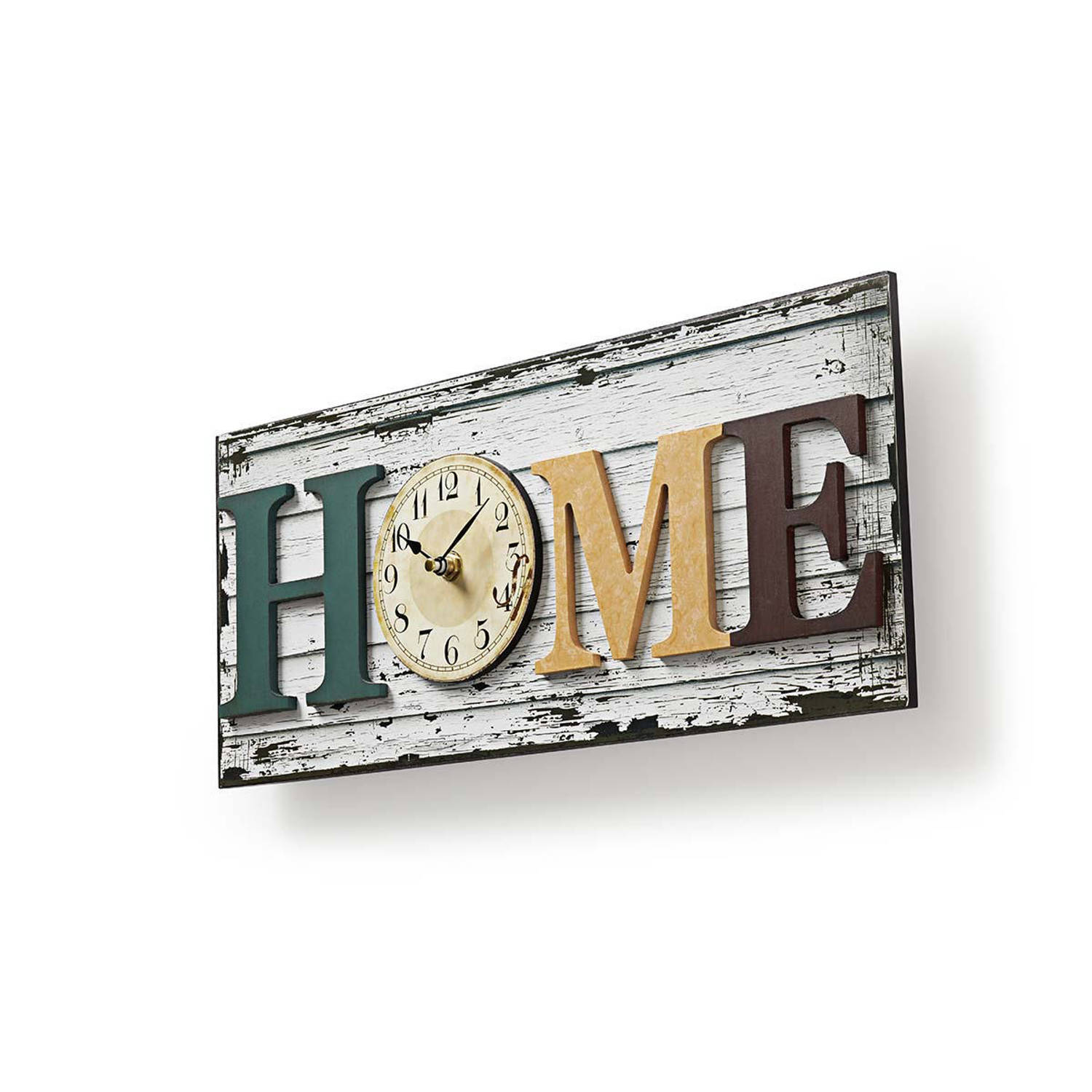Nedis houtlook design wandklok 'HOME SWEET HOME'