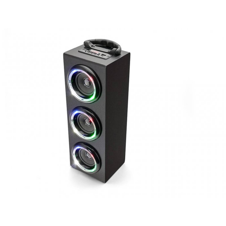Caliber HPG526BTL/B Draagbare Bluetooth speaker met FM Radio en USB / SD met interne accu.