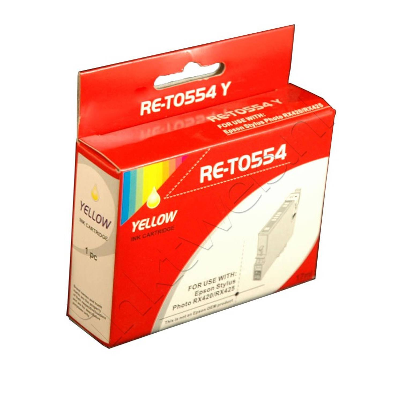 Korting Huismerk Epson T0554 Geel Cartridge