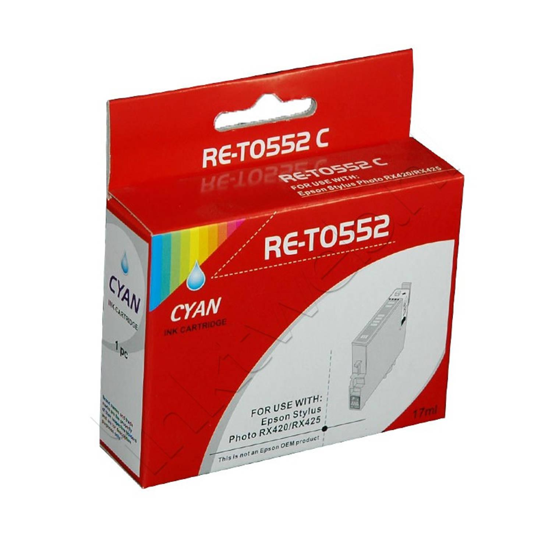 Korting Huismerk Epson T0552 Cyaan Cartridge