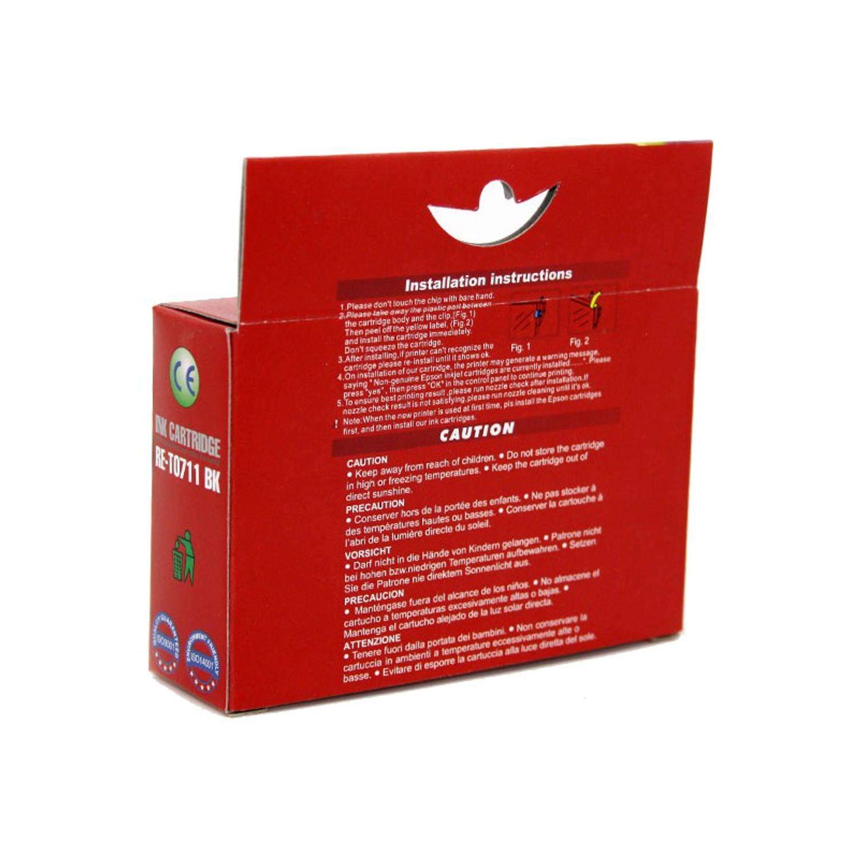 Korting Huismerk Epson T0711 Zwart Cartridge