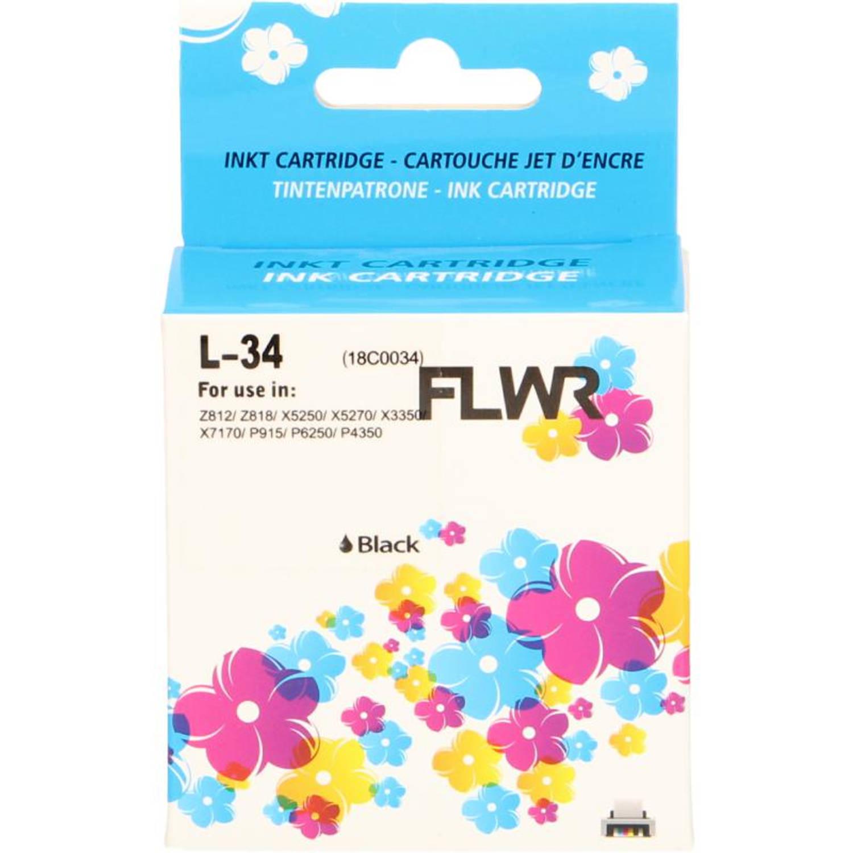 FLWR Lexmark 34XL zwart Cartridge