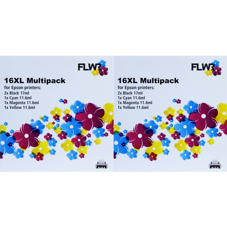 Huismerk Epson 16XL Multipack (2 sets) zwart en kleur Cartridge
