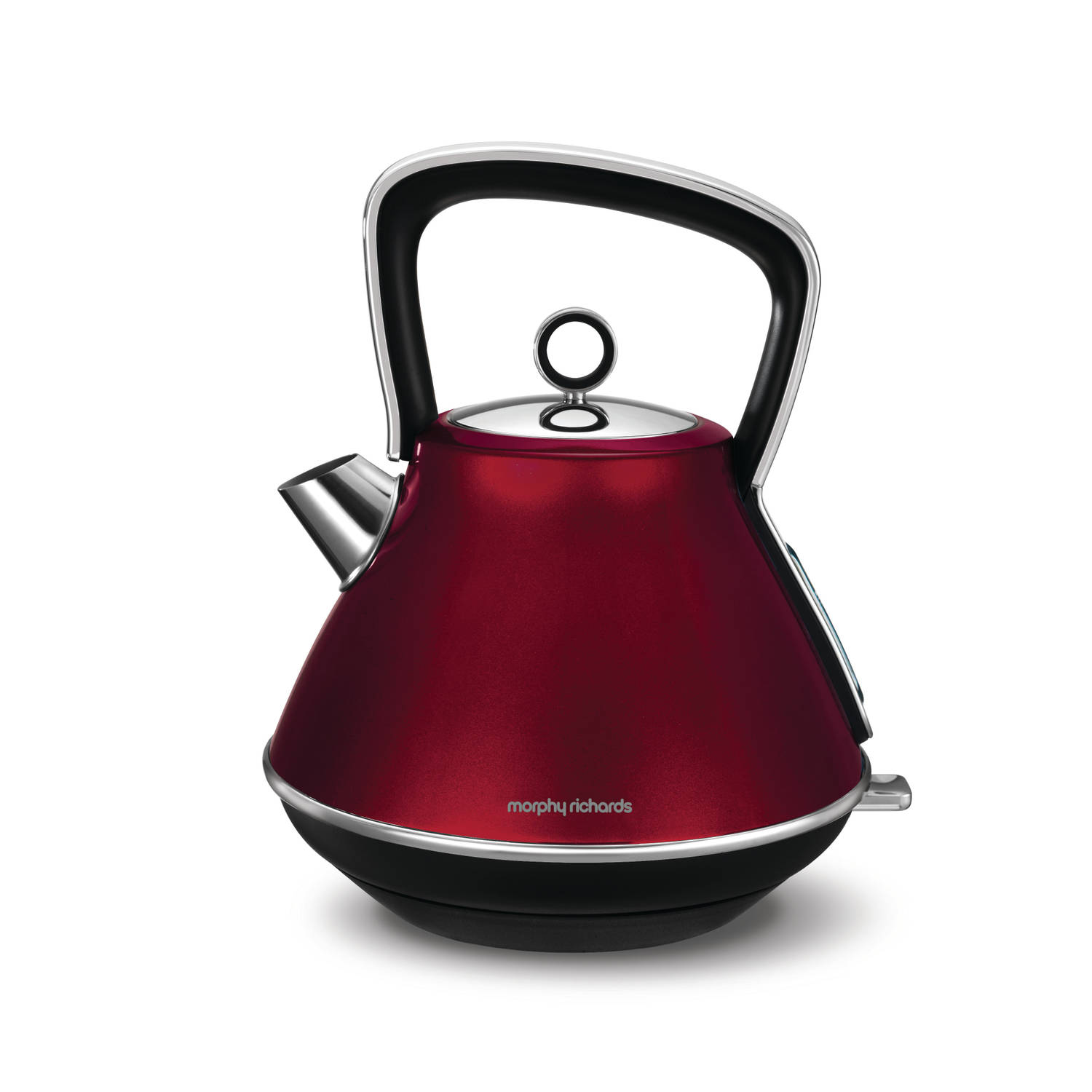 Morphy Richards waterkoker Evoke Special Edition (piramide-vorm) - rood