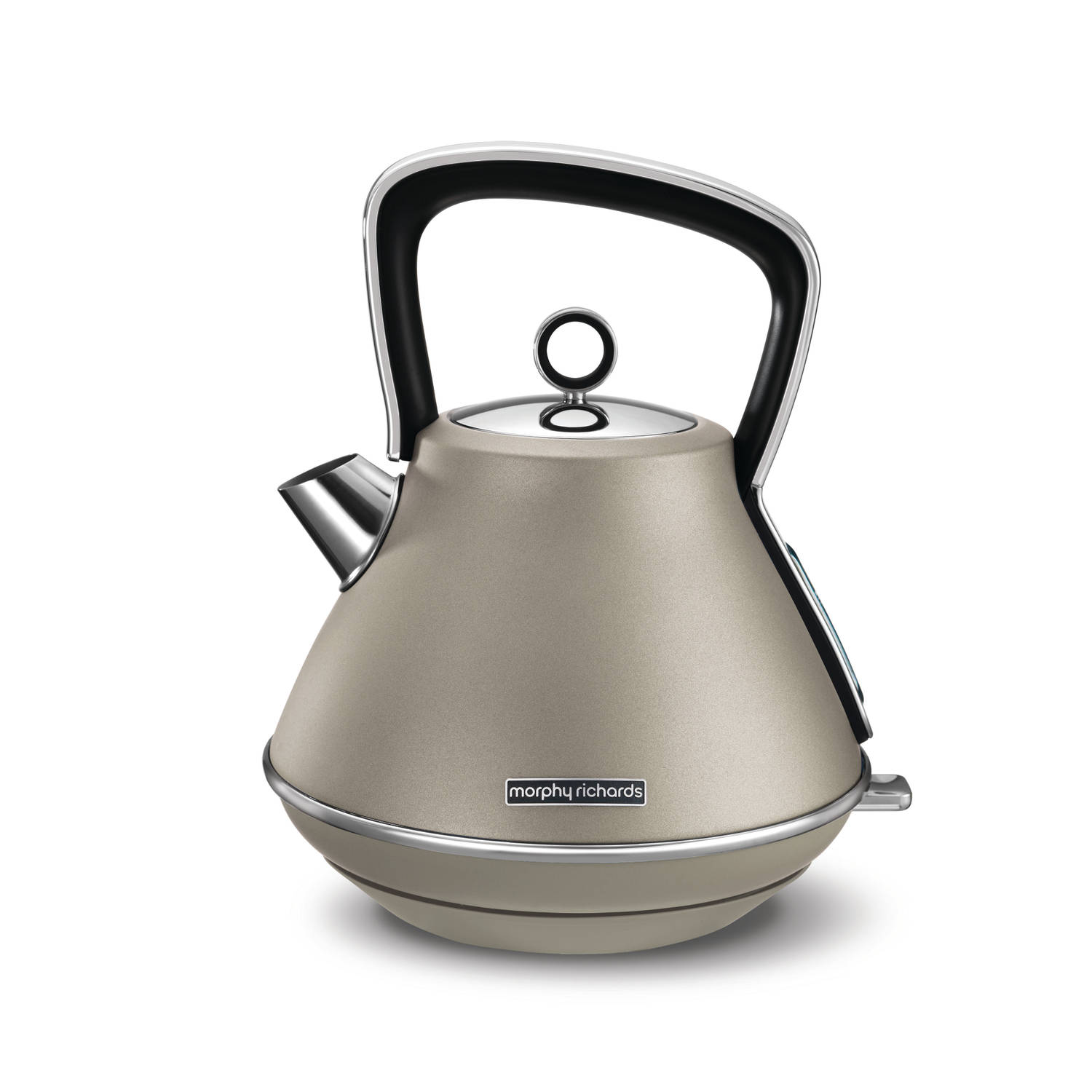 Morphy Richards waterkoker Evoke Special Edition (piramide-vorm) - platina