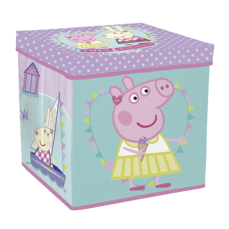 Arditex Peppa Pig opbergmand/kruk 30 x 30 x 30 cm groen