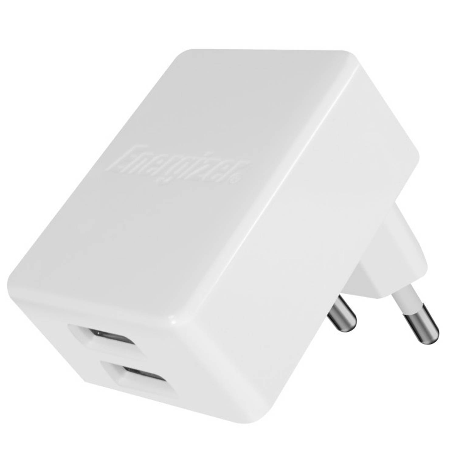 Energizer oplader dubbele USB-poort 4.8A voor iPhone-iPad wit
