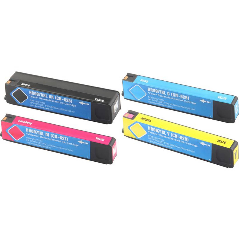 Huismerk HP 970 / 971XL Multipack zwart en kleur Cartridge