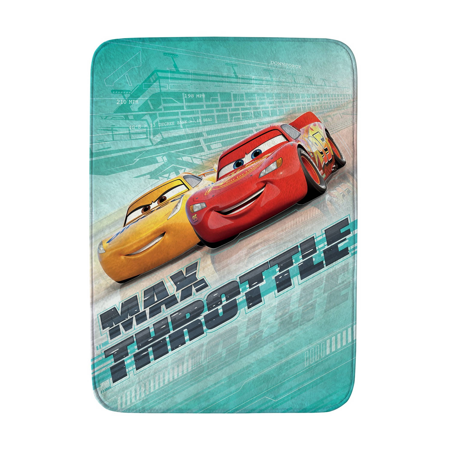 House of Kids speelkleed Cars max throttle 70 x 95 cm groen