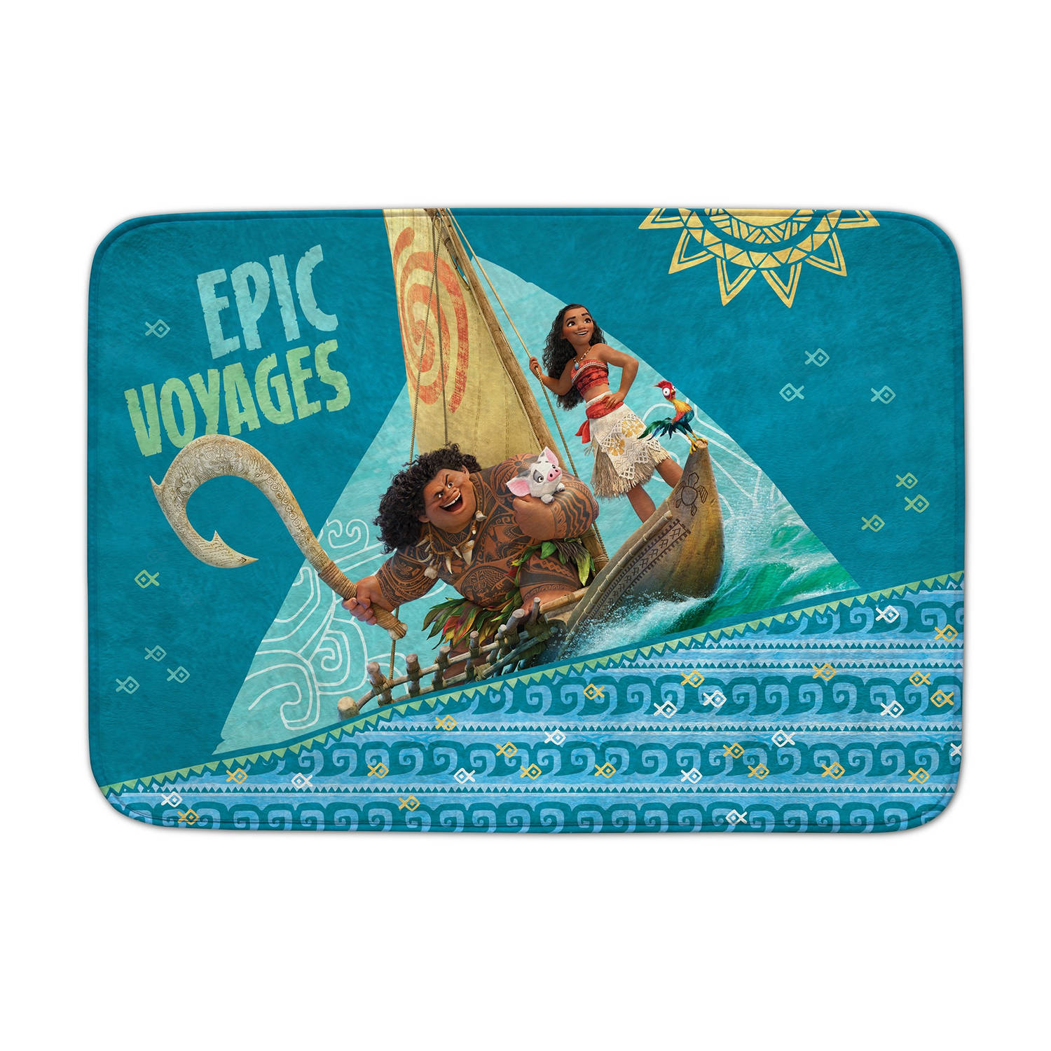 House of Kids speelkleed Moana Epic Voyages 70 x 95 cm blauw