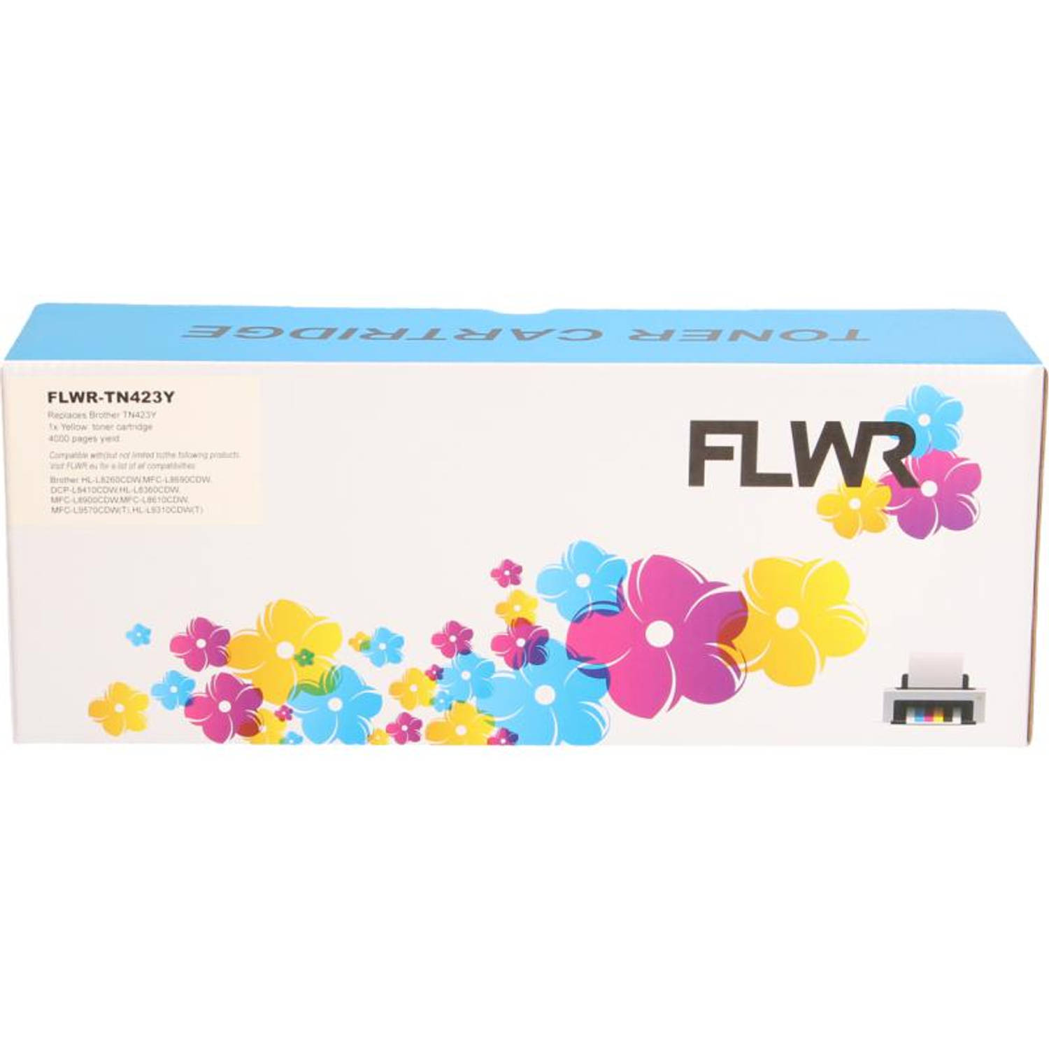 FLWR Brother TN-423 geel Toner