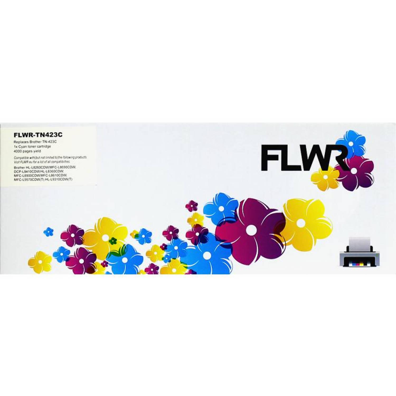 FLWR Brother TN-423 cyaan Toner