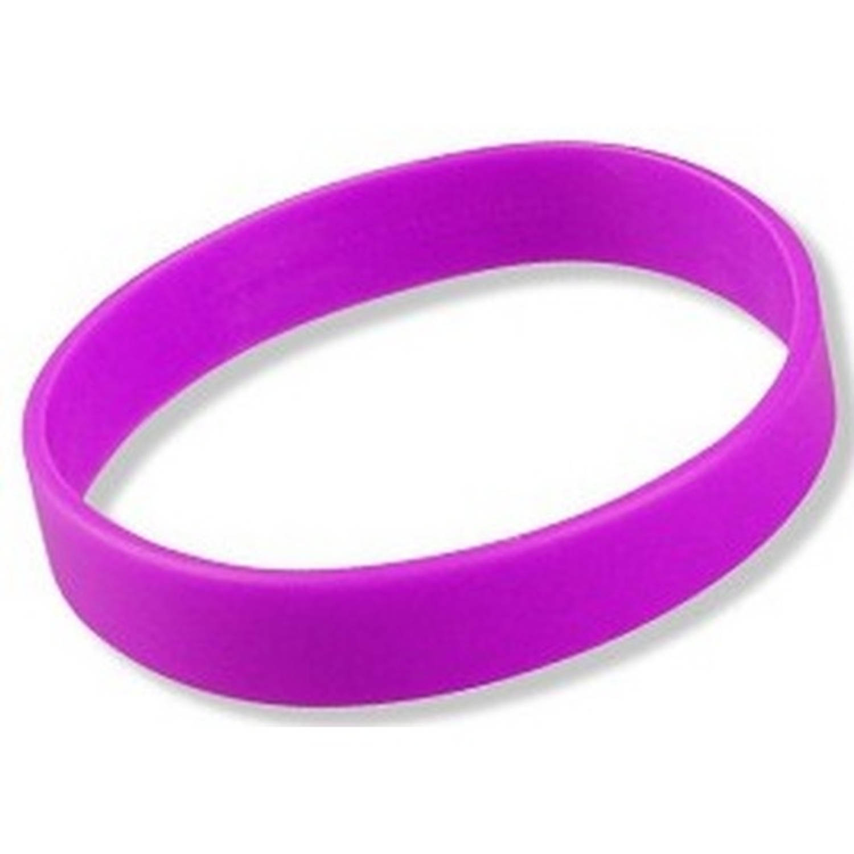 Korting Siliconen Armband Neon Paars