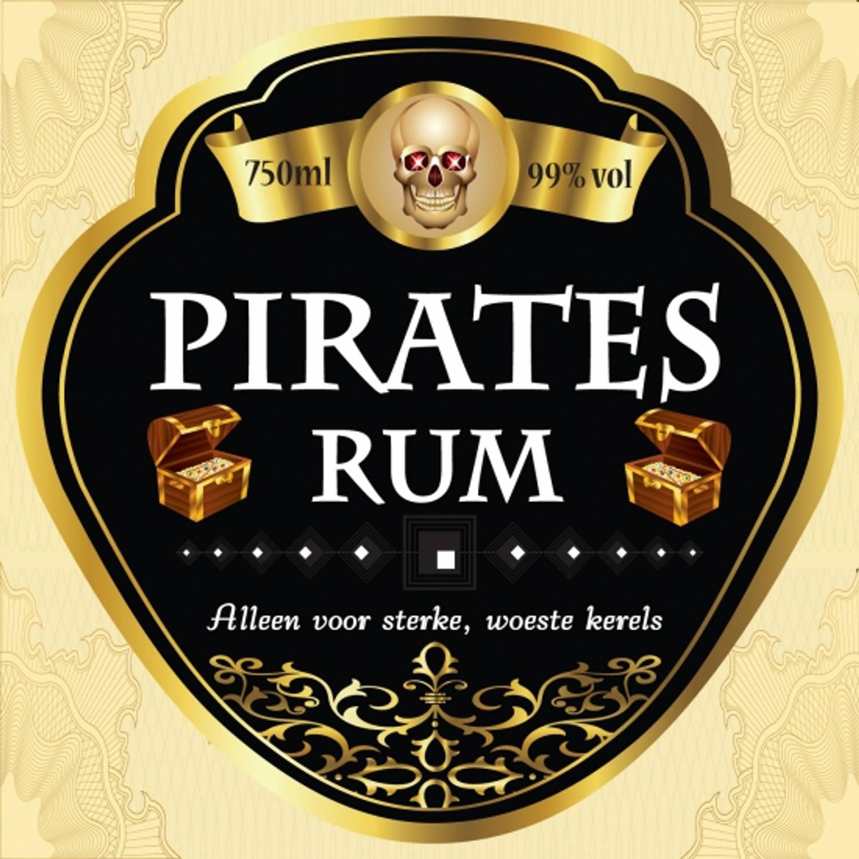 Korting Flessen Etiket Pirates Rum