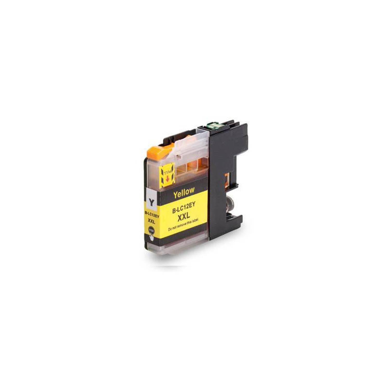 Huismerk Brother LC-12EY geel Cartridge