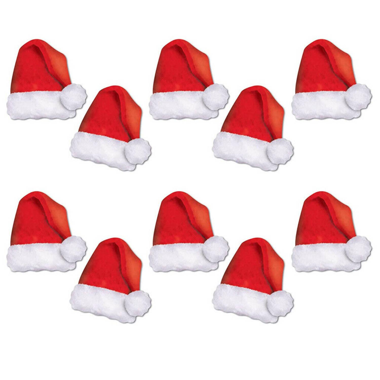 Korting 10x Stuks Kerstmutsen Wand tafel Kerstdecoratie Karton 13 Cm Feestdecoratieborden