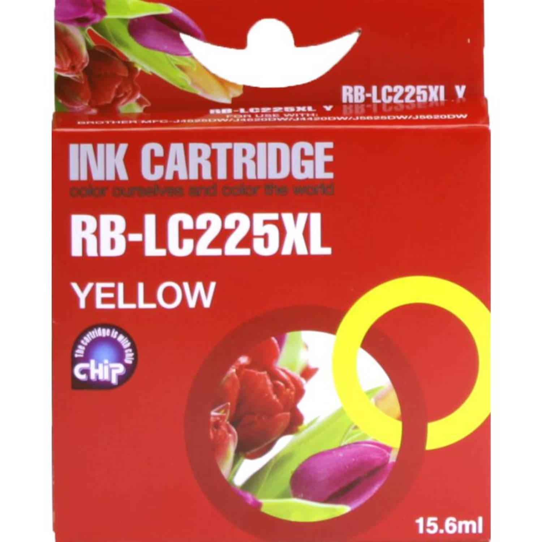 Huismerk Brother LC-225Y geel Cartridge