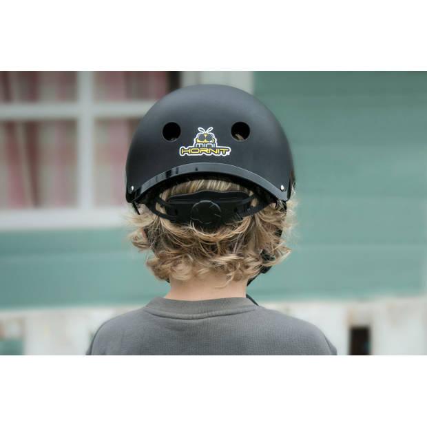 Mini Hornit Lids Fietshelm voor Kinderen - met LED achterlicht - Stealth (M)
