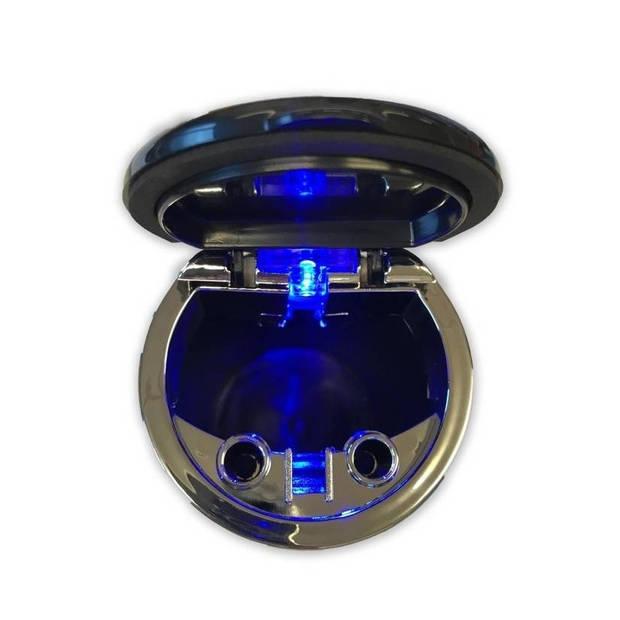 Auto asbak met led-licht 12 cm