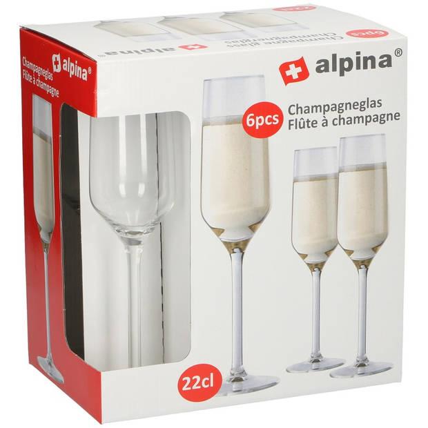Champagneglas / glazen 12x stuks 22 centiliter