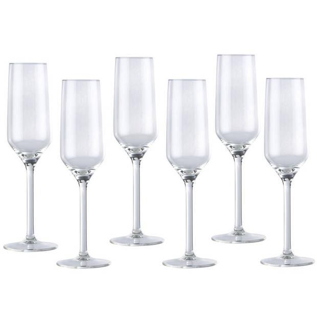 Bruiloft champagneglaszen/ proseccoglazen 12x stuks 22 centiliter - Feest / party champagneglazen set