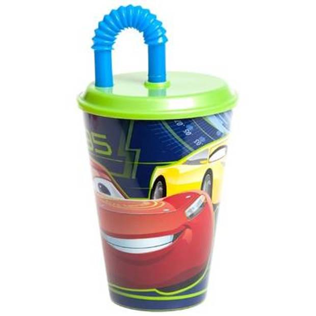Disney drinkbeker Cars 3 met rietje 400 ml
