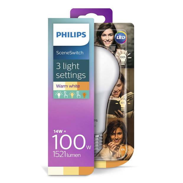 Philips LED SceneSwitch E27 14W-7W-3.5W 2700K-2200K Mat