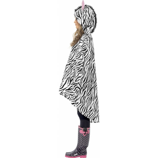 Party regenponcho zebra