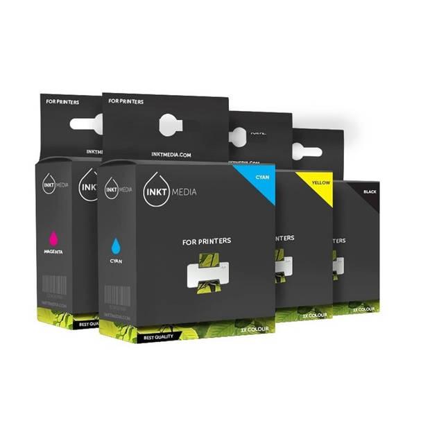 Inktmedia® - Inktcartridge - Alternatief voor de Hp 363 serie 1x zwart en 5 kleuren inkt cartridges 1x set