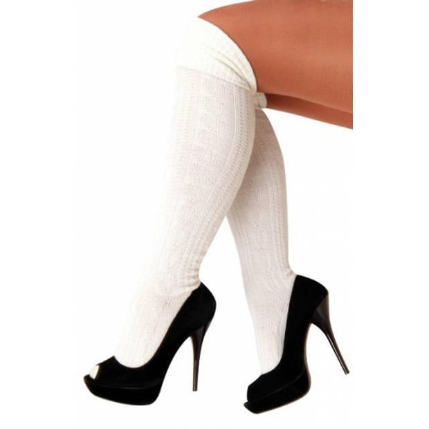 Oktoberfest - Oktoberfest - witte tiroler kousen / sokken voor dames
