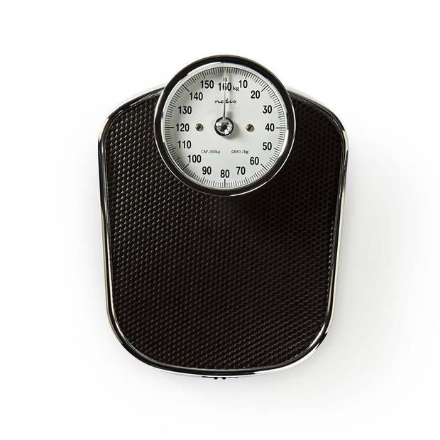 Nedis analoge retro design personenweegschaal RVS tot 160 kg