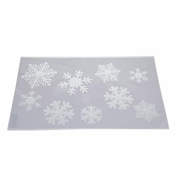 Kerst raamsjablonen sneeuwvloken plaatjes 54 cm - Raamdecoratie Kerst - Sneeuwspray sjabloon