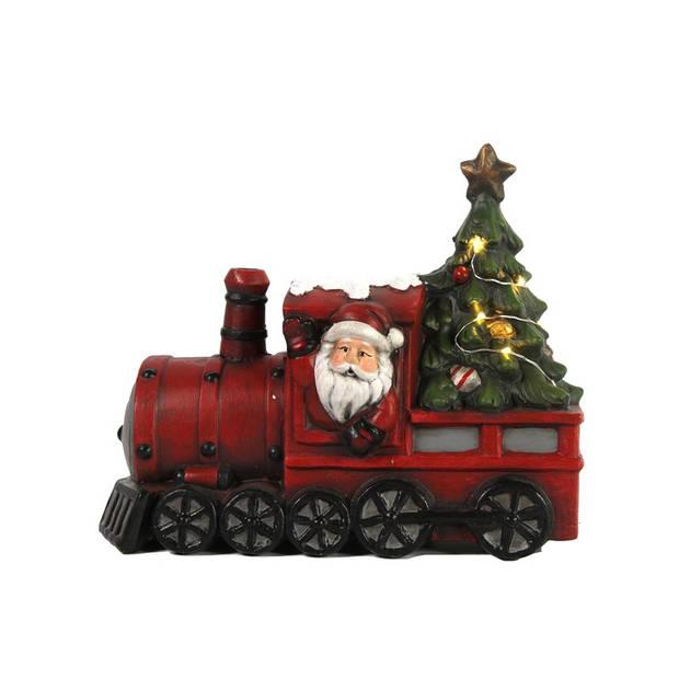 Countryfield Locomotief met kerstman LED Kerstartikelen
