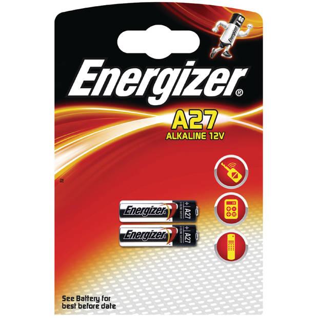 Energizer batterijen A27 Alkaline 12V 2 stuks