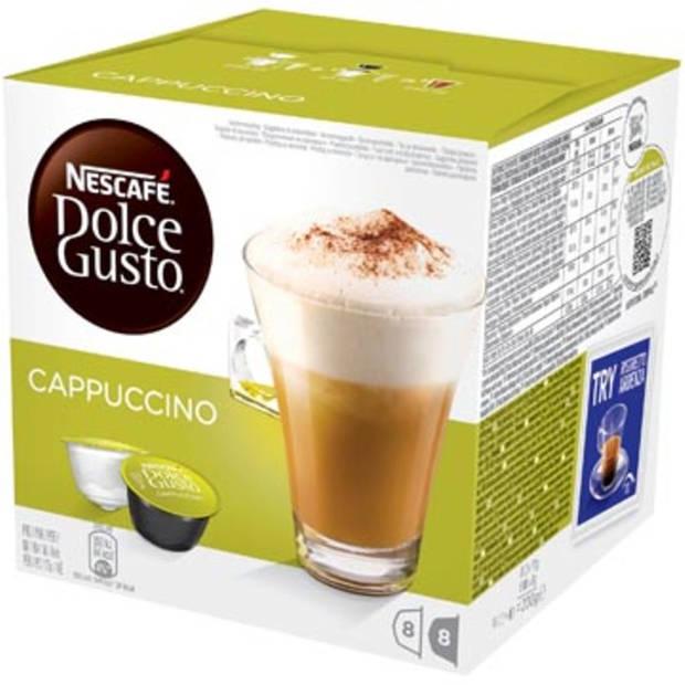Nescafe Dolce Gusto koffiecups, Cappucino, pak van 16 stuks