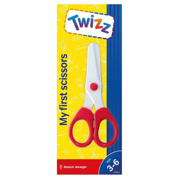 Twizz Twizz mijn eerste schaar rood 12 cm