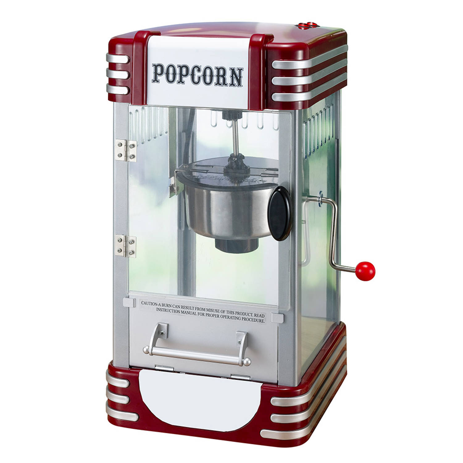 Retro Line Popcornmachine Groot
