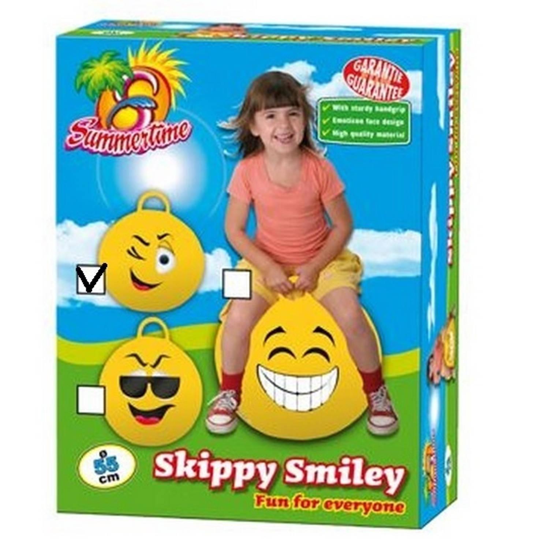 Summertime Skippybal knipoog 55 cm geel
