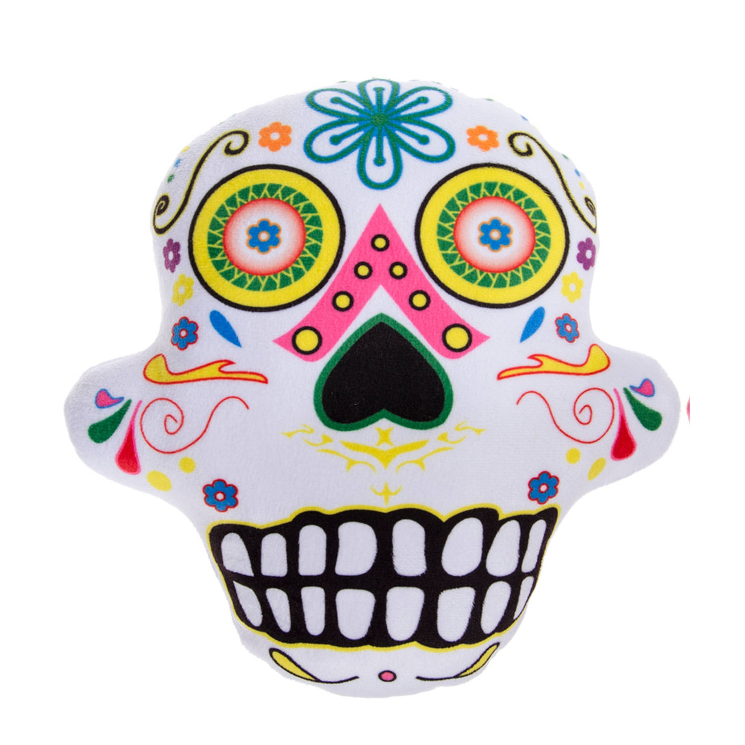LG-Imports kussen Day Of Dead 28 cm wit