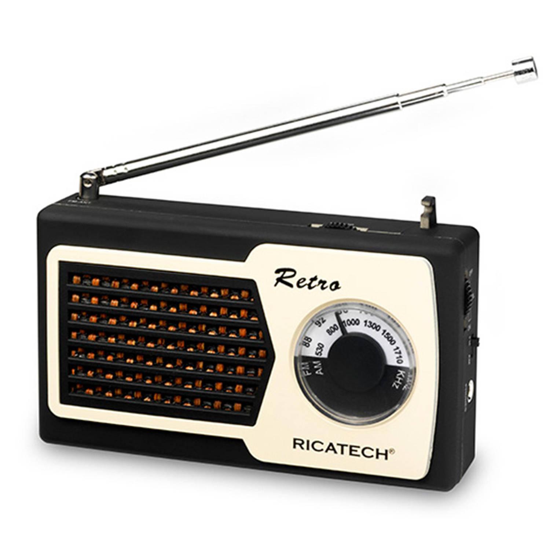 Ricatech PR22 Retro Radio Zwart