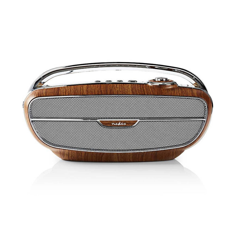 Nedis Draagbare Retro Radio Bluetooth Wood