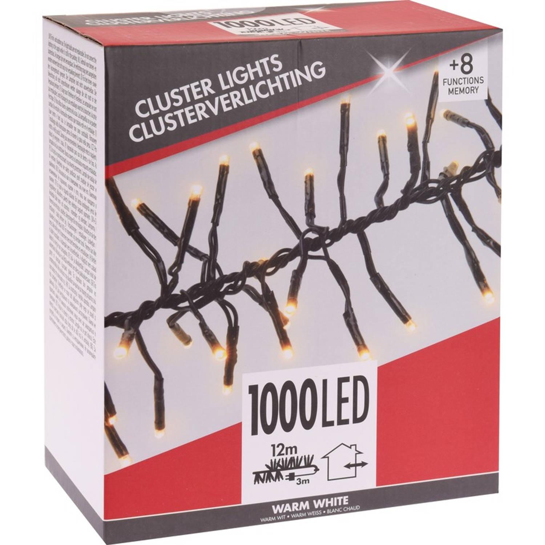 Clusterverlichting budget warm wit buiten 1000 lampjes boomverlichting