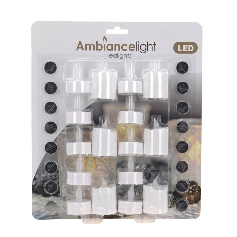 Theelichten met led 16 stuks LED kaars